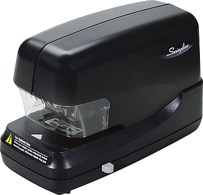 Swingline® High Capacity Automatic Electric Stapler, 70 Sheets, Black, Flat Clinch