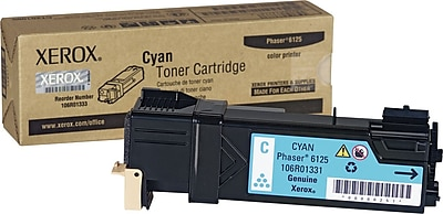 Xerox Phaser 6125 Cyan Toner Cartridge (106R01331)