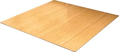 Anji Mountain Roll-Up 48''x52'' Bamboo Chair Mat for Carpet, Rectangular, Natural (AMB24012)