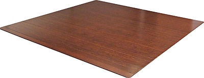 Anji Mountain Roll-Up 48''x52'' Bamboo Chair Mat for Carpet, Rectangular, Dark Cherry (AMB24013)