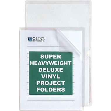 C-Line® Deluxe Super Heavyweight Vinyl Project Folders, Legal Size