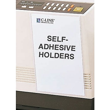 C-Line® Self-Adhesive Job/Shop Ticket Holders