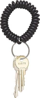 Staples Wrist Coil Key Holder, Black, 5/Pack (22156)