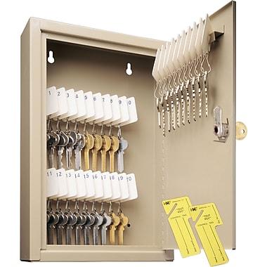 MMF Industries™ STEELMASTER® Uni-Tag® Key Cabinet, Sand, 30 Key Capacity, 12 1/8