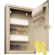 """MMF Industries™ STEELMASTER® Uni-Tag® Key Cabinet, Sand, 30 Key Capacity, 12 1/8""""H x 8""""W x 2 5/8""""D"""