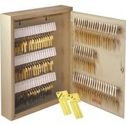 """MMF Industries™ Uni-Tag™ 110-Key Cabinet, Sand, 17 1/8""""H x 14""""W x 3 1/8""""D"""
