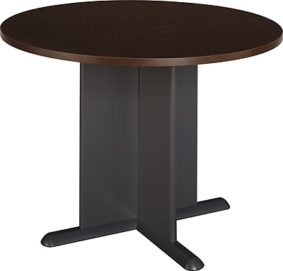 Bush Business Westfield 42W Round Conference Table; Mocha Cherry, Installed