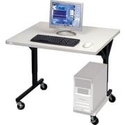 "Balt® Brawny 36"" x 30"" Mobile Computer Desk, Gray"