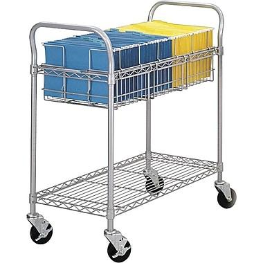 Safco® - Chariot métallique de 36 po pour courrier