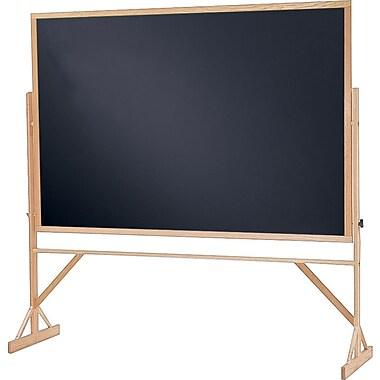 Quartet® Reversible Chalkboard, 6' x 4'