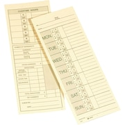 """Adams 9791-200 Double-Sided Time Cards, 3-3/8"""" x 9"""""""