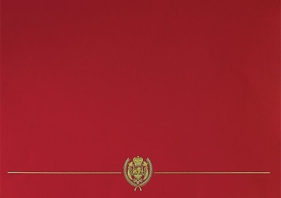 Great Papers® Classic Crest Certificate Holders, Red