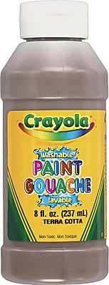 Binney & Smith Crayola® Multicolor Washable Paint Pack, Assorted Skintone Colors, 8 oz., 8/Pk