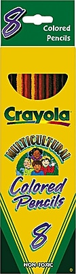 Binney & Smith Crayola® Multicultural Colored Woodcase Pencils, 8/Bx