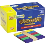 "Chenille Kraft Company Colored Wood Sticks, (Popsicle) Size, Assorted, 4.5"" x.38"", 1,000/Bx"