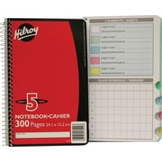 "Hilroy 5-Subject Notebook with Tabs, 9-1/2"" x 6"", Assorted, 300 Pages"
