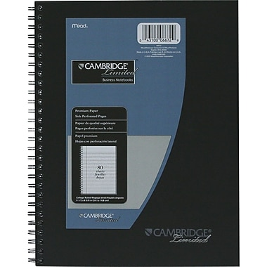 Cambridge® - Recharges pour cahier de notes professionnel Limited Business, 9-1/2 po x 6-5/8 po, 160 pages