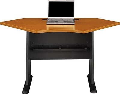 Bush Business Cubix 42W Corner Desk, Natural Cherry/Slate