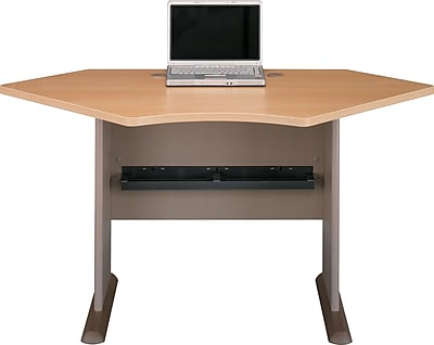 Bush Business Cubix 42W Corner Desk, Danish Oak/Sage