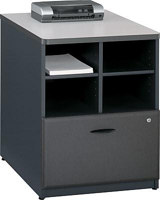 Bush Business Cubix 24W Piler Filer, Slate/White Spectrum, Installed