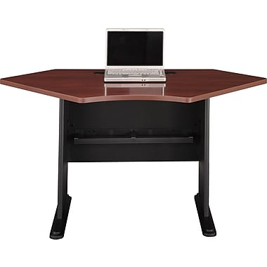 Bush® - Bureau en coin de la collection Cubix, 42 po, cerisier Hansen/galaxie