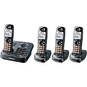 Panasonic KX-TG9344T Single Line Cordless Phone, Black Metallic