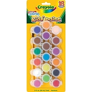 Crayola® Washable Kids' Paint Pots, Assorted Colors, 18/Pack