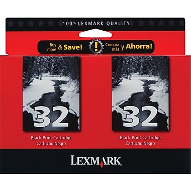 Lexmark 32 Black Ink Cartridges (18C0533), 2/Pack