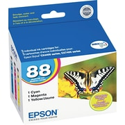 EPSON® 88 DURABrite Ultra Ink Cartridges, Color, Multi-pack (3 cart per pack)