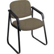 Office Star™ Custom Sled Base Guest Chair with Arms, Gold Dust