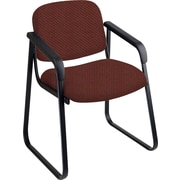 Office Star™ Custom Sled Base Guest Chair with Arms, Wine