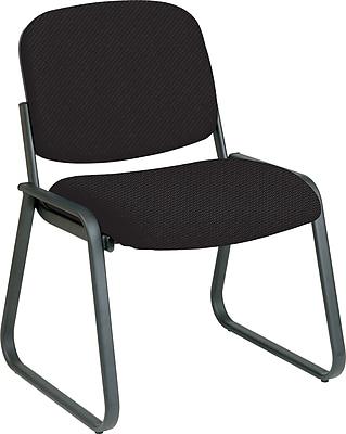 Office Star™ Custom Sled Base Armless Guest Chair, Jet