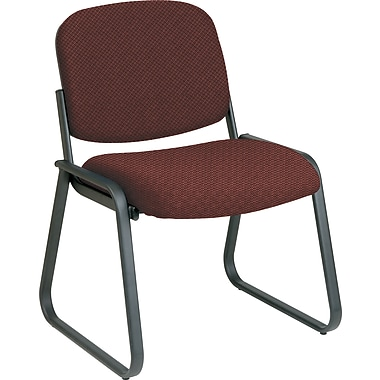 Office Star™ Custom Sled Base Armless Guest Chair, Wine