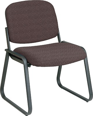 Office Star™ Custom Sled Base Armless Guest Chair, Taupe