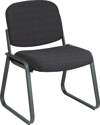 Office Star™ Custom Sled Base Armless Guest Chair, Graphite