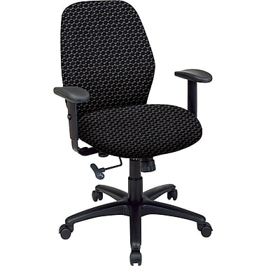 Office Star™ Fabric Managers Office Chair, Graphite, Adjustable Arm (50321-320)