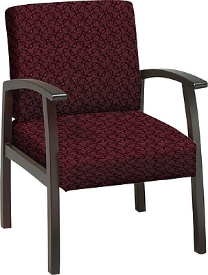 Office Star™ Custom Mahogany Finish Wood Guest Chair, Inferno