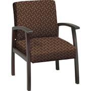 Office Star™ Custom Mahogany Finish Wood Guest Chair, Nugget