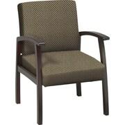 Office Star™ Custom Mahogany Finish Wood Guest Chair, Gold Dust