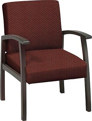 Office Star™ Custom Mahogany Finish Wood Guest Chair, Wine