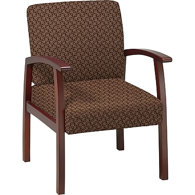 Office Star™ Custom Cherry Finish Wood Guest Chair, Nugget