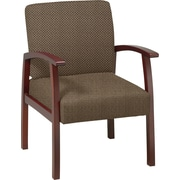 Office Star™ Custom Cherry Finish Wood Guest Chair, Gold Dust