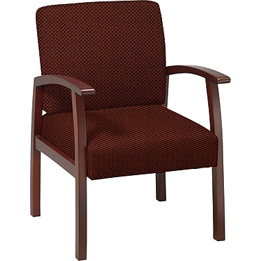 Office Star™ Custom Cherry Finish Wood Guest Chair, Wine