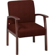 Office Star™ Custom Cherry Finish Wood Guest Chair, Wine