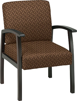 Office Star™ Custom Espresso Finish Wood Guest Chair, Nugget