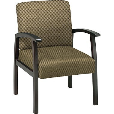 Office Star™ Custom Espresso Finish Wood Guest Chair, Gold Dust