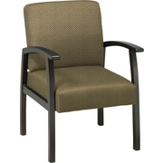 Office Star™ Custom Espresso Finish Wood Guest Chair, Gold Dust