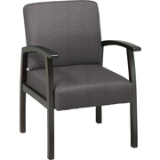 Office Star™ Custom Espresso Finish Wood Guest Chair, Shale