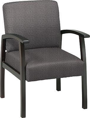 Office Star Custom Espresso Finish Wood Guest Chair, Shale