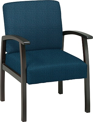 Office Star Custom Espresso Finish Wood Guest Chair, Blue Galaxy
